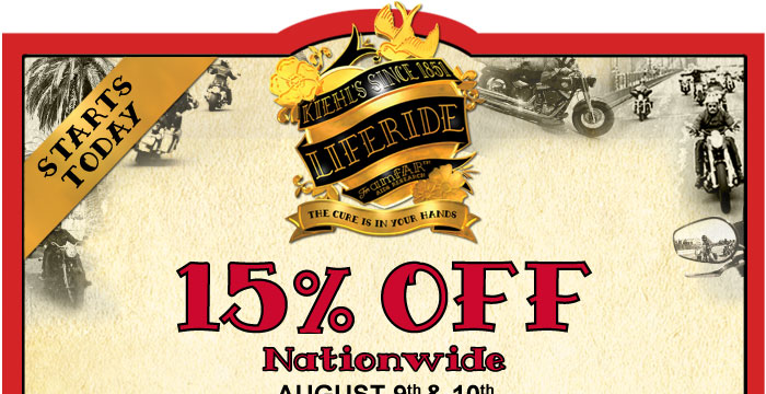 Starts Today - 15% Off Nationwide - August 9th - 10th